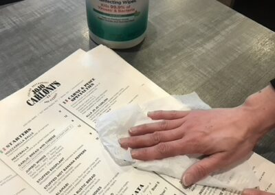 Coronavirus Response - Sanitizing Menus | JoJo Carlonis Restaurant | Berea, OH